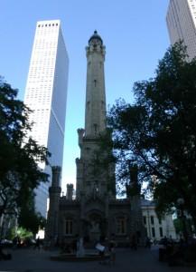Водната кула в Чикаго така, както изглежда днес