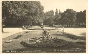 Фонтанът на Кирил Шиваров в Морската градина. Между 1941-1950 г.